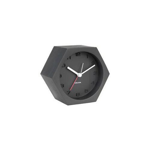 Karlsson:: Budzik Hexagon Concrete czarny - czarny, kolor czarny