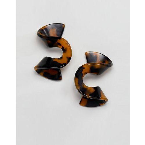 Asos design stud earrings in tortoiseshell swirl design - multi
