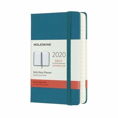 Kalendarz Moleskine 2020 Dzienny, Pocket, zielony morski