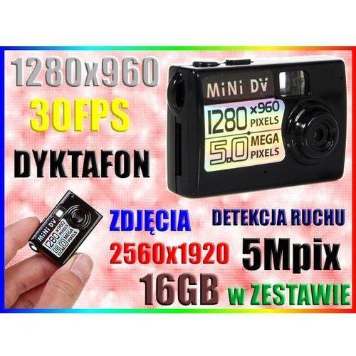MINI KAMERA SZPIEGOWSKA HD APARAT DET. RUCHU +16GB (kamera monitoringowa)