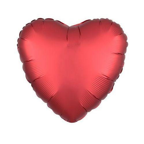 Balon foliowy serce czerwone - 43 cm - 1 szt. marki Amscan
