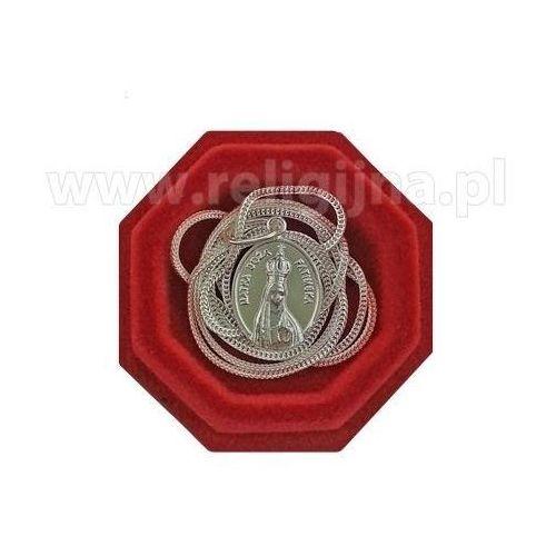 Medalik Matka Boża fatimska z łańcuszkiem - srebrny, w jubilerskim opakowaniu