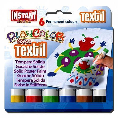 Farby w sztyfcie do tkanin playcolor textil one 6 kolorów marki Instant