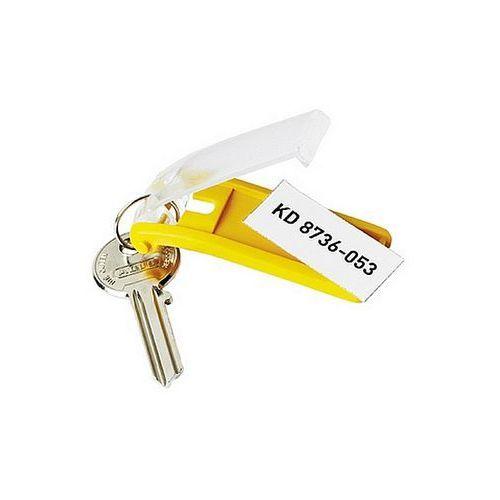 Durable Zawieszki do kluczy key clip żółte 1957-04, 6szt.