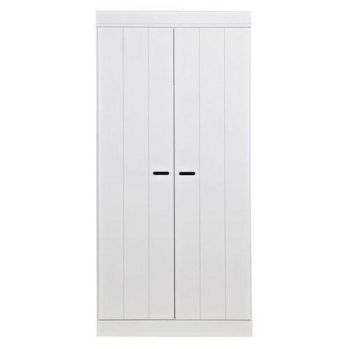 Szafa CONNECT, dwudrzwiowa z drążkiem i półkami, biała 360301-GOW/07, Woood