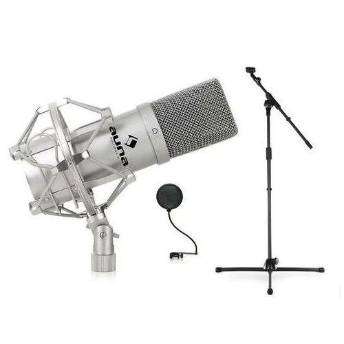 Auna Sceniczny/studyjny zestaw mikrofonów DJ PA: mikrofon, statyw