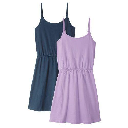 2359523102 Sukienka letnia (2 szt. w opak.) bonprix bez + ciemnoniebieski 55
