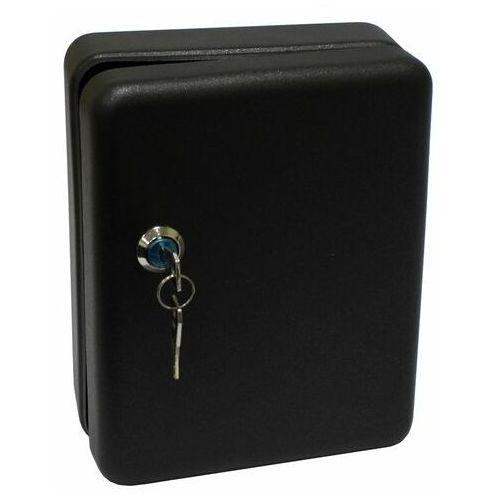 Szafka wisząca Metalplus 2171/2B_BLACK, na 20 kluczy, czarna