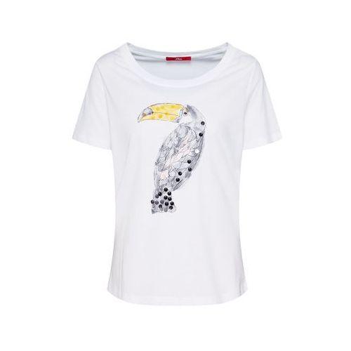 380a22b7af47df Oliver koszulka damska 05.906.32.6960 34 biała, kolor biały 99,90 zł  Materiał: Dżersej; Dekolt: kolisty dekolt; Wzór: Nadruk; odcienie w  opakowaniu: Jeden ...