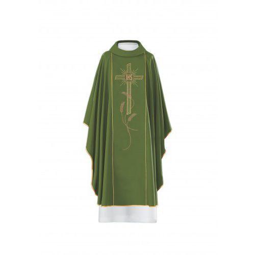 Ornat haftowany - symbol IHS, motyw krzyża i kłosów, URHAF KOR/074/01/01