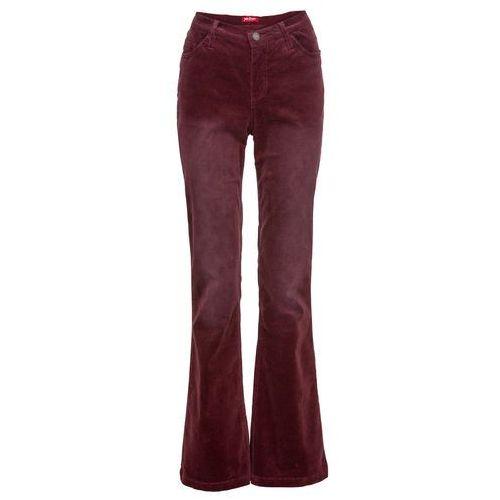 2a69996086ecba Spodnie sztruksowe ze stretchem FLARED bonprix czerwony klonowy, 1 rozmiar  99,99 zł Dł. Mierzona od kroku w rozm. 42 ok. 81 cm. Można prać w pralce.