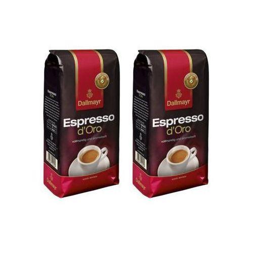 Dallmayr Zestaw 2x espresso d'oro kawa ziarnista import 1kg