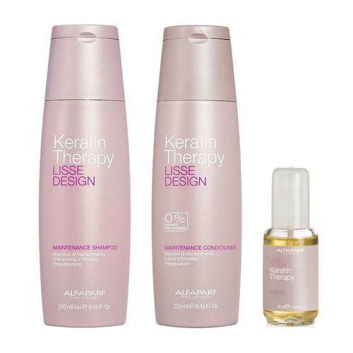 Alfaparf keratin therapy maintenance | zestaw podtrzymujący efekt wygładzenia: szampon 250ml + odżywka 250ml + olejek 50ml