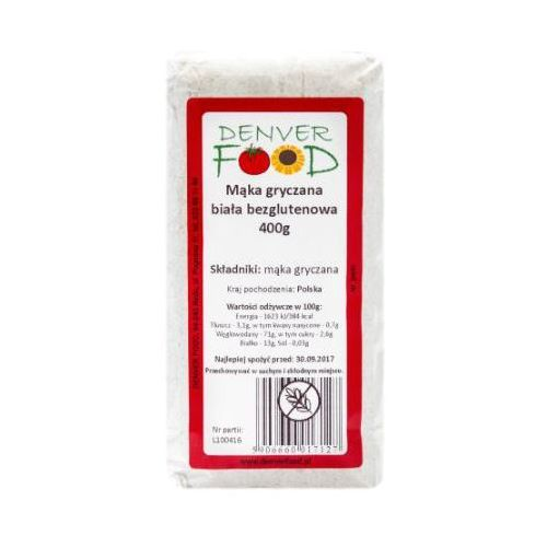 Mąka Gryczana Biała Bezglutenowa (Polska) 400 g Denver Food