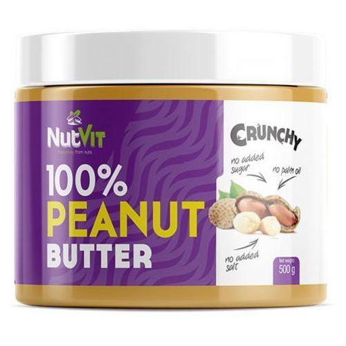 Masło orzechowe arachidowe 100% crunch 500g najlepszy produkt marki Nutvit