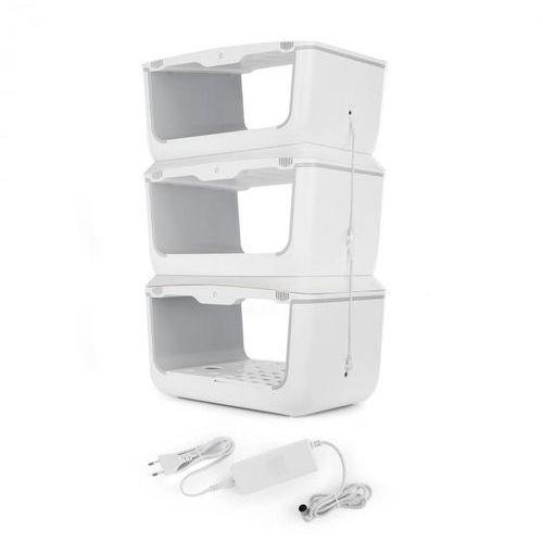 Klarstein Growlt Farm 3 poziomy Kit 3 x Smart Indoor Garden zestaw podłączeniowy (4060656188749)