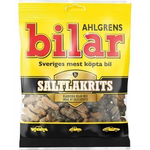 Ahlgrens bilar - Saltlakrits - żelki w kształcie samochodów ze słoną lukrecją - 100g - ze Szwecji
