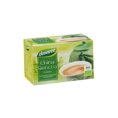 Herbata zielona chińska sencha ekspresowa bio 20 x 1,5 g - dennree marki Dennree (dżemy, miody, herbaty)