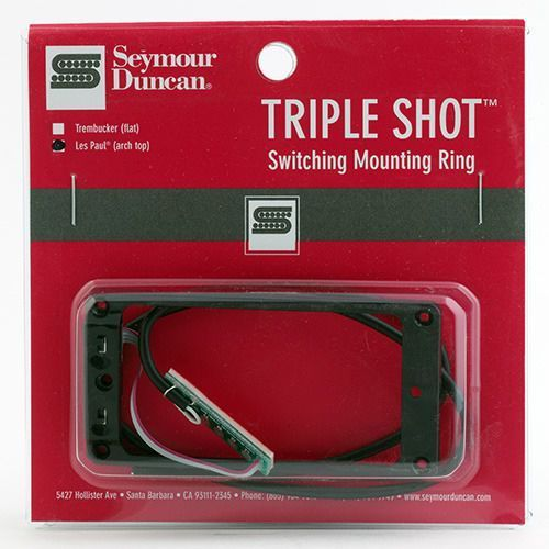 sts 2n blk triple shot, neck switching mounting ring, arched - black marki Seymour duncan