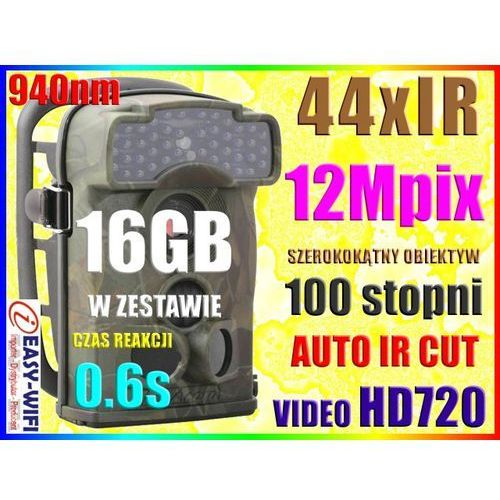 SZEROKOKĄTNA KAMERA LEŚNA FOTOPUŁAPKA HD720 +16GB (kamera monitoringowa)