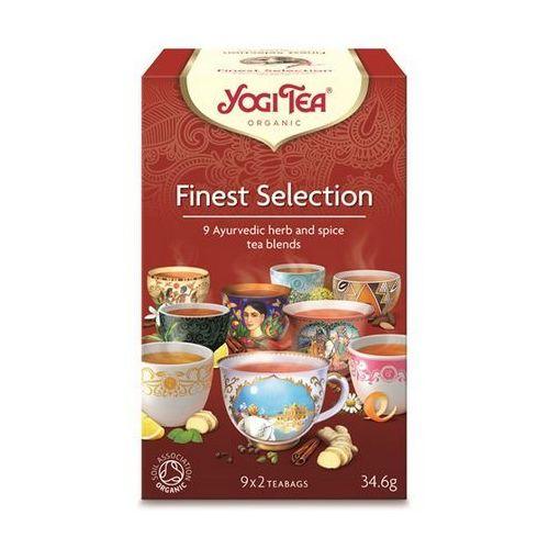 Herbata ekspresowa finest selection (mix herbatek) bio (yogi tea) 9 x 2 saszetki 34,6g marki Yogi tea, usa