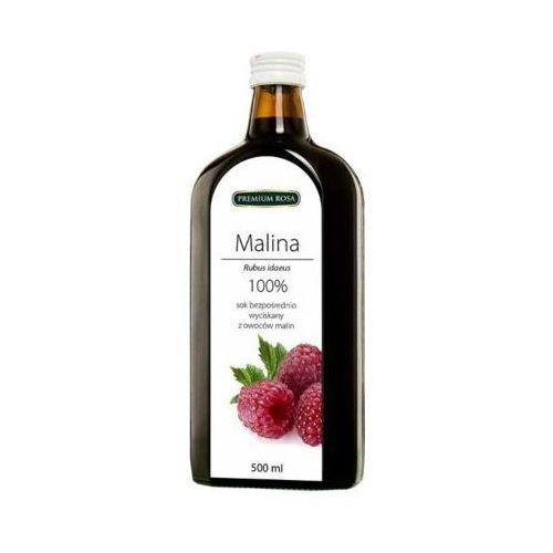 500ml sok 100% malina tłoczony na zimno marki Premium rosa