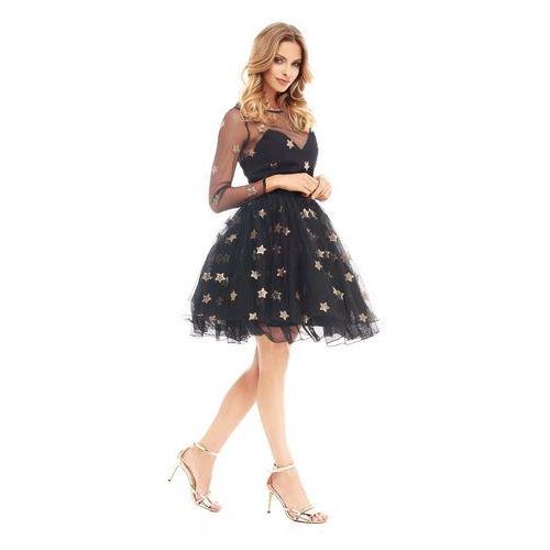 Sukienka Nympha w kolorze czarnym, kolor czarny