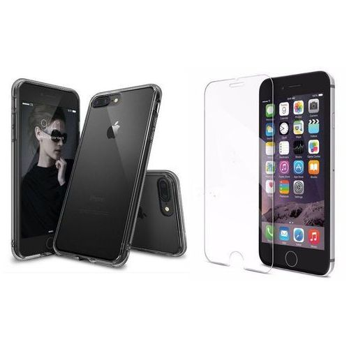Zestaw | rearth ringke fusion smoke black | obudowa + szkło ochronne perfect glass dla modelu apple iphone 7 plus marki Rearth / perfect glass