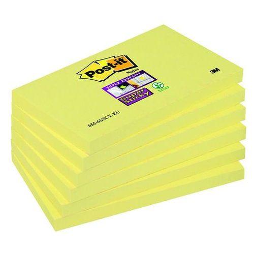 d4f70e6b5b0e7e 3m Bloczek samop. post-it® super sticky (655-6sscy-eu), 127x76mm, 6x90  kart., żółty 65,66 zł żółte karteczki, które przyklejają się praktycznie do  ...