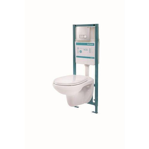 Zestaw podtynkowy Malmo | stelaż + miska wisząca WC | prod. Durasan, kup u jednego z partnerów