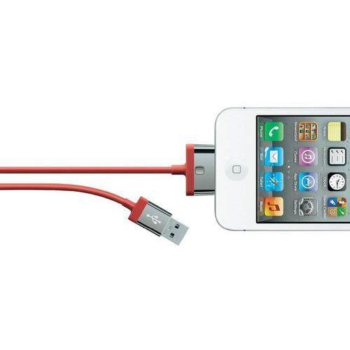 Kabel usb 2.0,  f8j041cw2m-red, do ipoda, iphone'a, ipada, 2 m, czerwony, marki Belkin