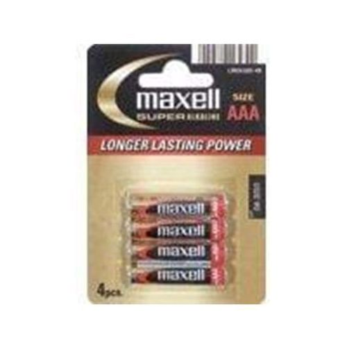 Maxell Baterie super alkaliczne LR03/AAA 4szt. (790336.04.EU) Darmowy odbiór w 20 miastach!