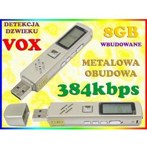 MINI DYKTAFON CYFROWY PODSŁUCH 384kbps LCD DETEKCJA DŹWIĘKU VOX PAMIĘĆ WBUDOWANA 8GB ze sklepu Sklep Easy-WiFi