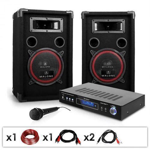 """Zestaw nagłośnieniowy dla DJów """"DJ-10"""" wzmacniacz, głośniki, mikrofon 400 W"""