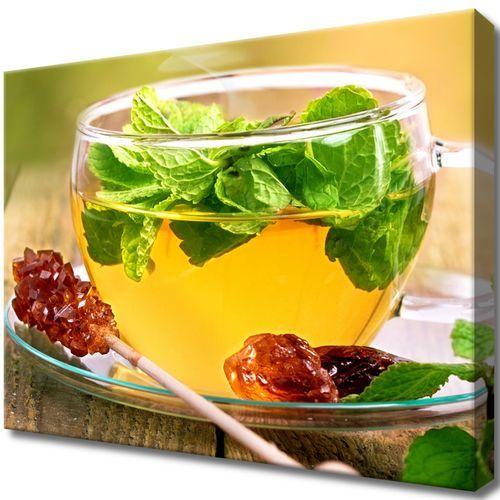 Obraz na Ścianę Herbatka miętowa cukier trzcinowy