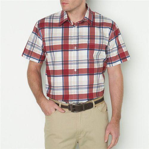 Koszula w kratkę z krótkim rękawem, rozmiar 1 i 2 - sprawdź w La Redoute