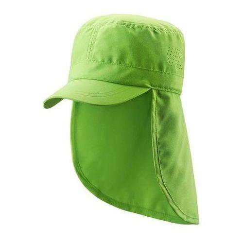 Czapka przeciwsłoneczna UV 50+ Reima ALOHA osłona karku zielona (grass green), kolor zielony