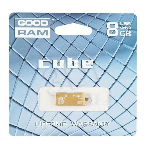 Produkt PENDRIVE GOODRAM CUBE 8GB GOLD RETAIL9