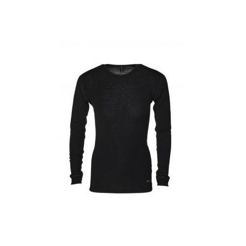 Koszulka męska z wełny merynosów (100%) - długi rękaw - DILLING - kremowa, szara, czarna