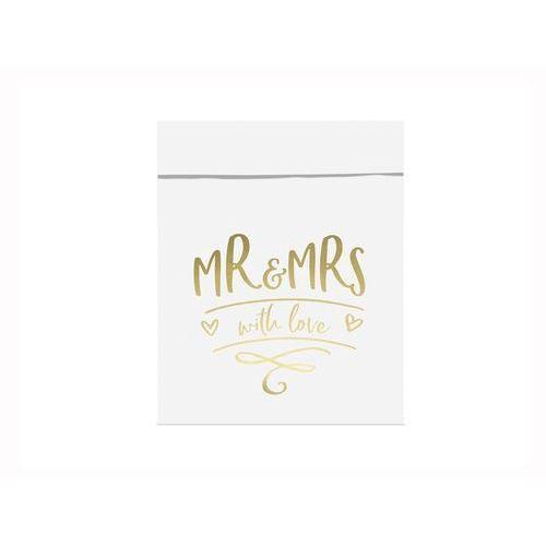 Torebki na słodycze Mr & Mrs - 6 szt.