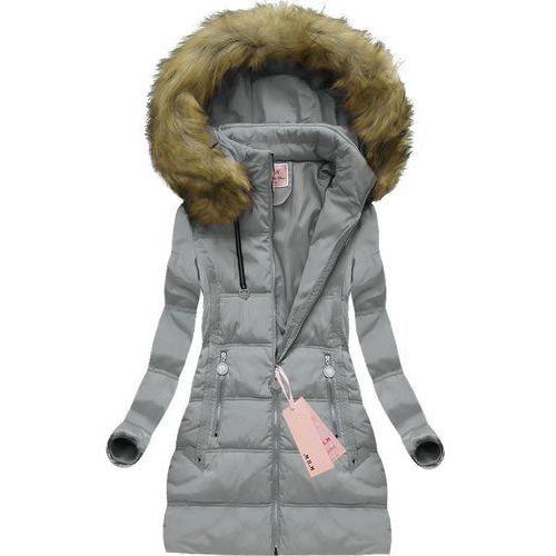 Mhm Pikowana kurtka z kapturem szara (xw716x) - szary
