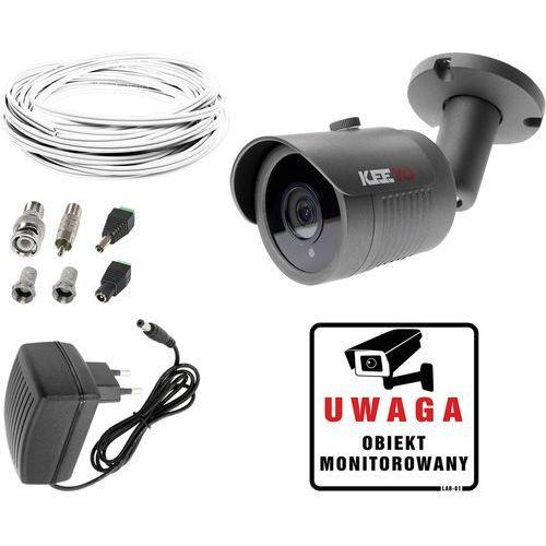 Zestaw do monitoringu domu mieszkania kamera lv-al30ht zasilacz przewód akcesoria podgląd na tv marki Keeyo