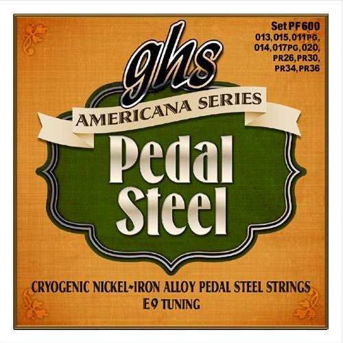 americana series ″ struny do pedal steel guitar, 10-strings, c6 tuning,.012-.036 marki Ghs
