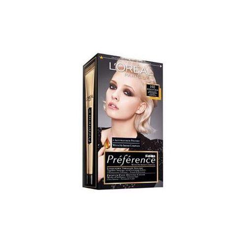 L'Oreal farba do włosów FERIA PREFERENCE, 102 bardzo jasny perłowy blond