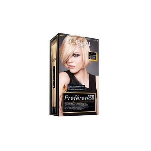 L'Oreal farba do włosów FERIA PREFERENCE, 92 bardzo jasny blond beżowo-perłowy