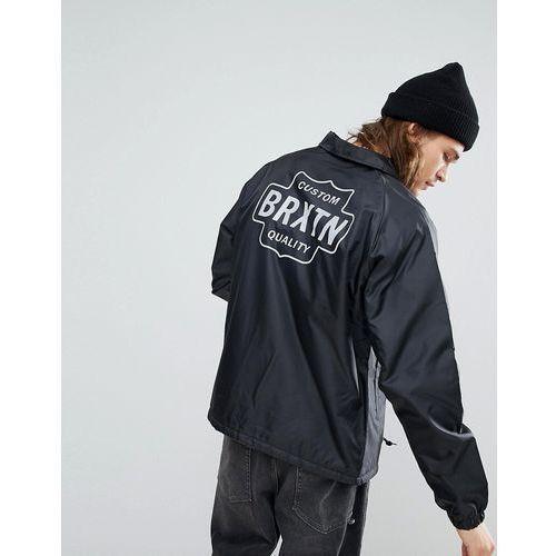 garth coach jacket with sherpa lining - black, Brixton