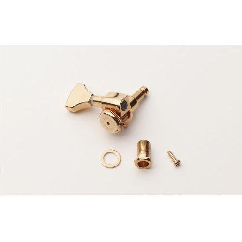 Hipshot Grip-Lock Open Gear Guitar Tuning Machines - Treble Side (Right) ″ złoty klucz gitarowy