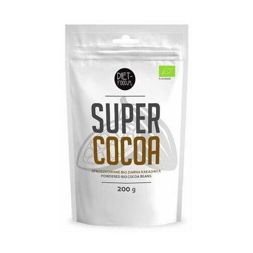 Surowe ziarno kakaowca puder bio 200 g marki Diet-food