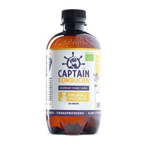 Captain kombucha Napój pineapple peach splash - ananas brzoskwinia bio 400ml