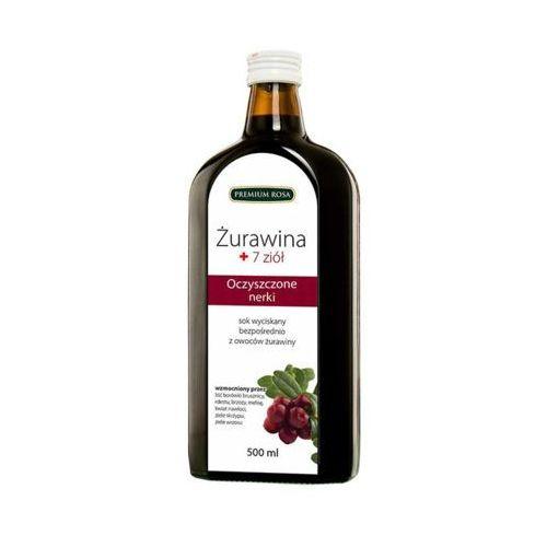 Premium rosa 500ml sok 100% żurawina + 7 ziół tłoczony na zimno